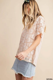 Floral Lace Jersey Top