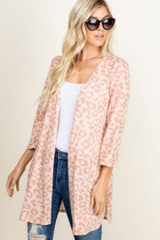 Leopard Print Cardigan with Side Slit (S-3XL)