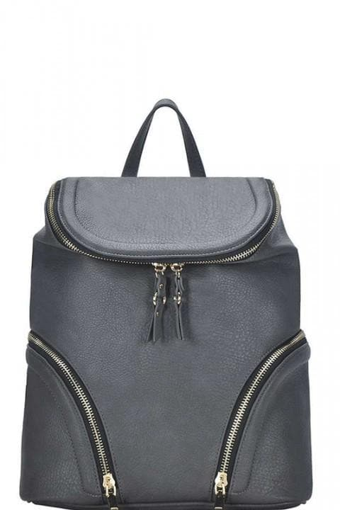 Smooth Textured Backpack with Adjustable Straps