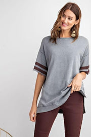 Easel - Terry Knit Athletic Boxy Top
