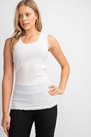 Easel - U-Neck Ribbed Tank Top