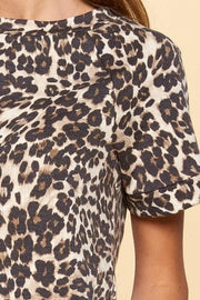 Leopard Printed French Terry Top (S-3XL)
