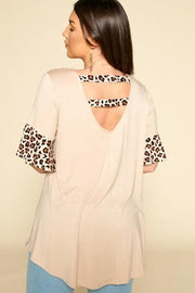 Swing Tunic Top with Animal Print (1XL-3XL)