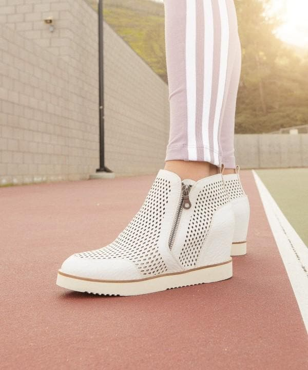 Lamber - Perforated Sneaker Wedge