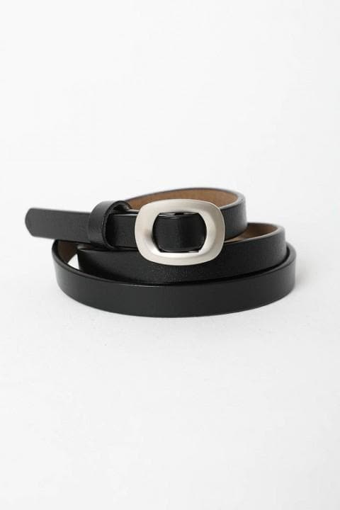 Skinny Modern Leather Cinch Belt