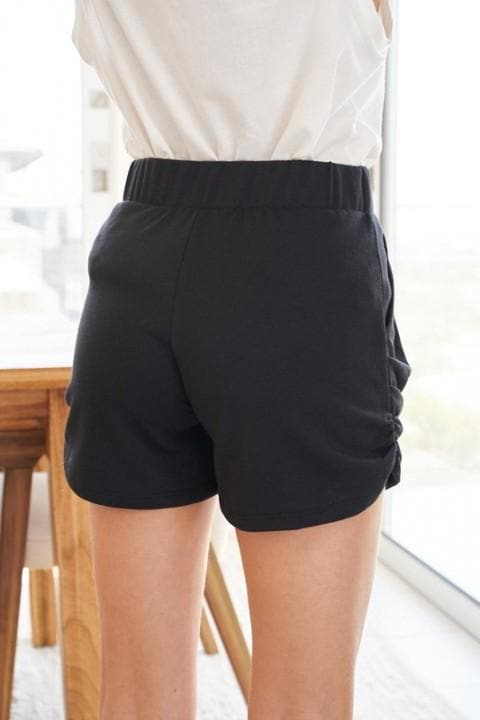 Solid Knit Short with Side Pockets (S-3XL)