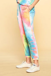 Tie-Dye Printed French Terry Knit Joggers (S-3XL)