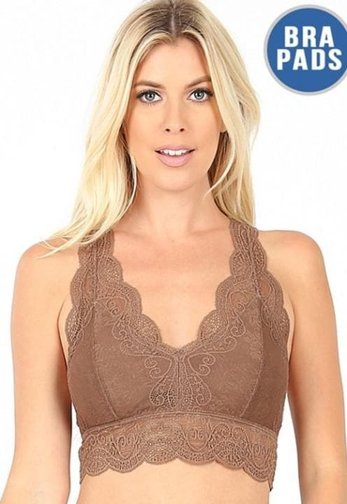 Doorbuster - Stretch Lace Hourglass Back Removable Bra Pads (S-3XL)