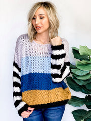 DOORBUSTER ALERT Striped Knit Sweater