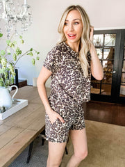 Leopard Printed French Terry Shorts (S-3XL)