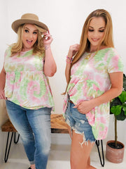 Tie Dye Baby Doll Top (S-3XL)