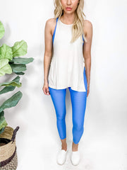 Spring Blue Jacquard Seamless Highwaist Leggings