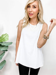 Classic Woven Sleeveless Top (S-3XL)