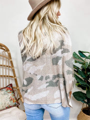 Pol - Light Weight Camouflage Print Sweater (S-3XL)