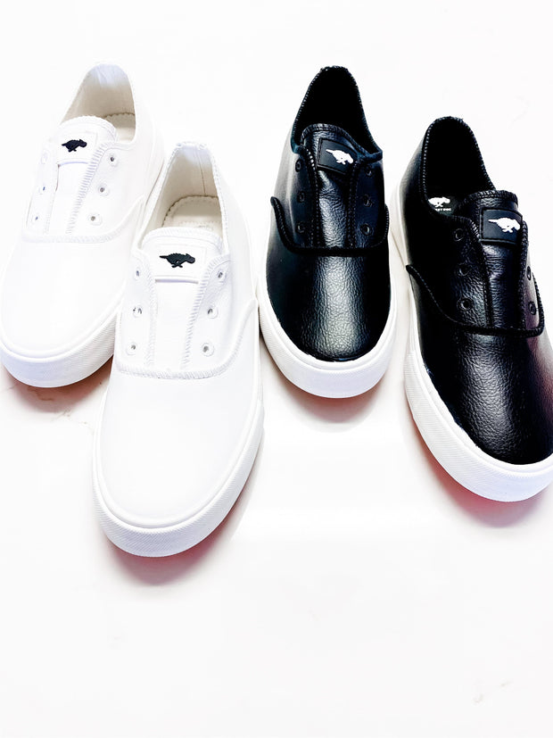 Rocket Dog Faux Leather Slip On Sneakers