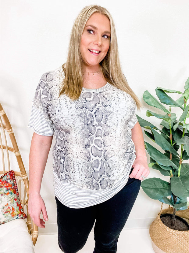 Python Printed Thermal Top (S-3XL)