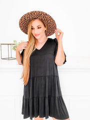 Solid Baby Doll Dress