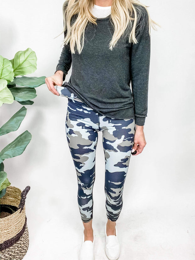 Deep Camo Highwaist Work Out Leggings