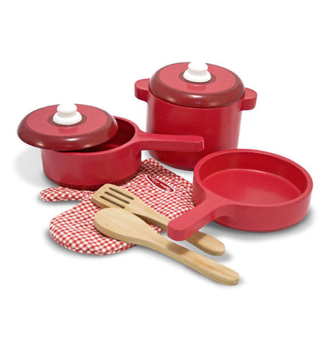 Melissa and Doug Play Kitchen Accessory Set - Pot & Pans