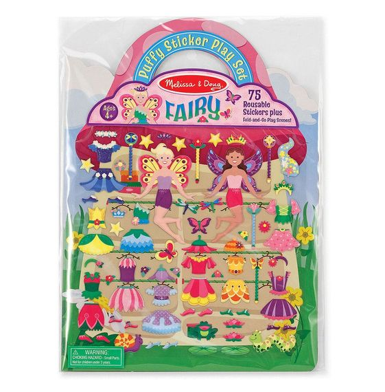 Reusable Puffy Stickers - Fairies
