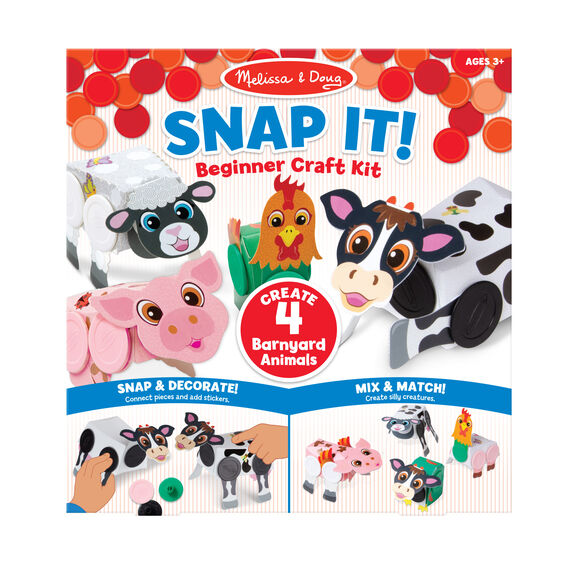 Snap It! Beginner Craft Kit - Barnyard Animals