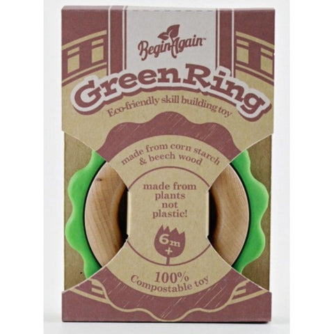 Begin Again Green Ring