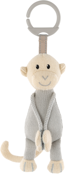 Matchstick Monkey Knitted Hanging Monkey - Grey