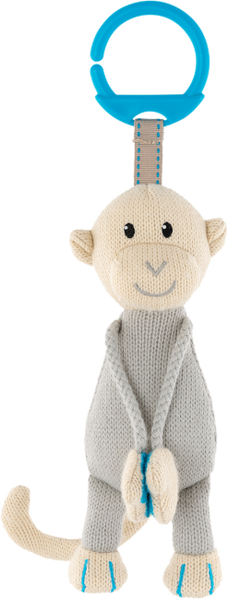 Matchstick Monkey Knitted Hanging Monkey - Blue