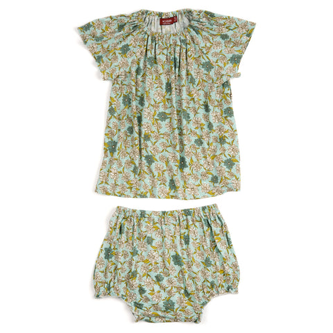 Bamboo Dress and Bloomer Set - Blue Floral