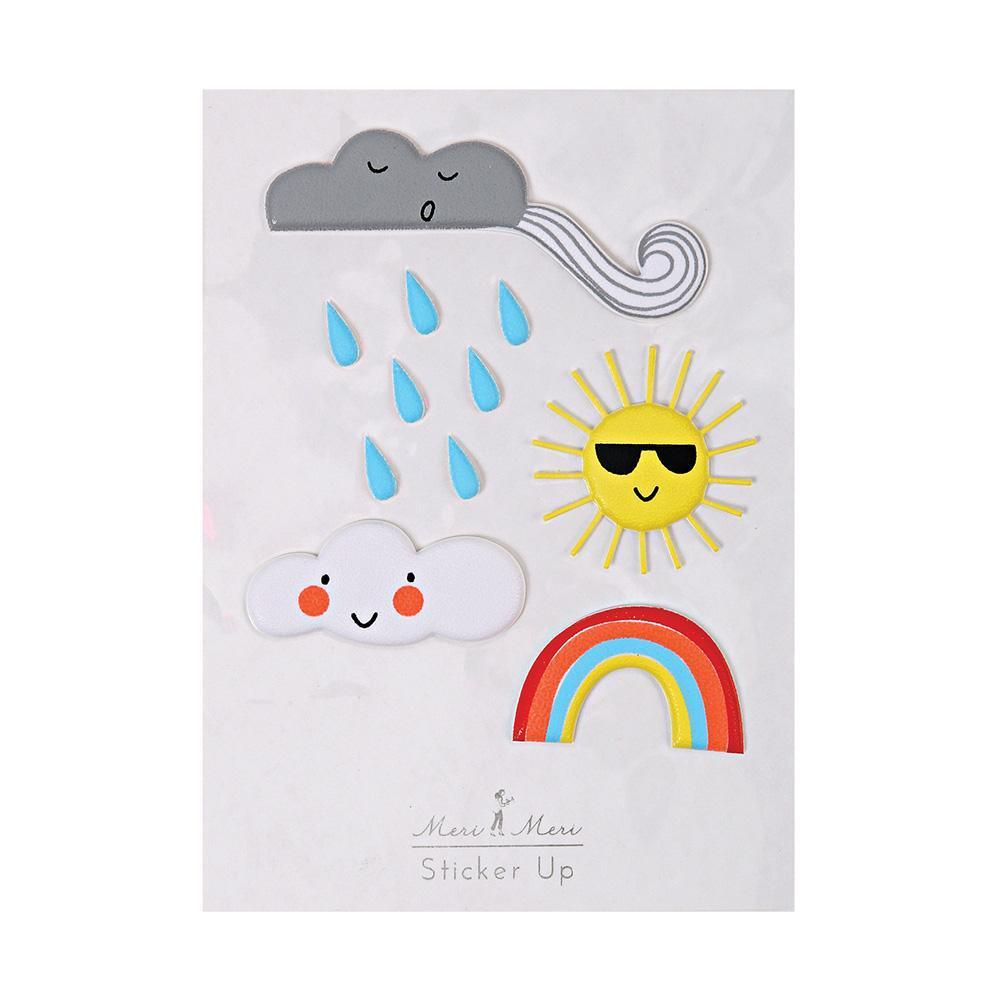 Meri Meri Puffy Stickers - Weather