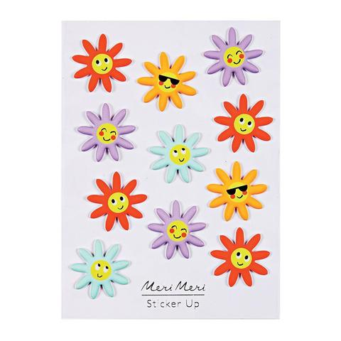 Meri Meri Puffy Stickers - Happy Flowers