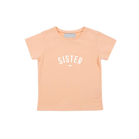 Bob and Blossom Sister Cap-Sleeved T-shirt - Peach