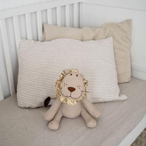 Dreams Jumper Organic Linen Crib Fitted Sheet