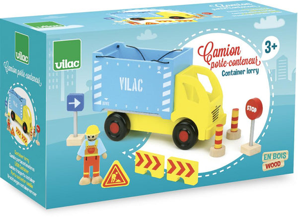 Vilac Container Truck and Accessories Set