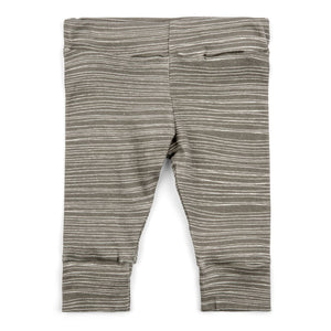 Milkbarn Organic Leggings - Grey Stripe
