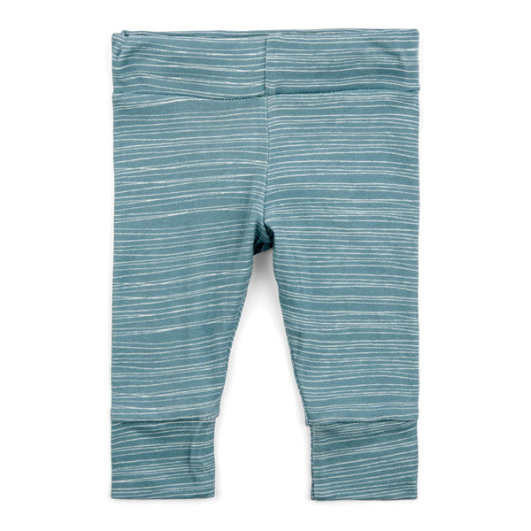 Milkbarn Organic Leggings - Blue Stripe