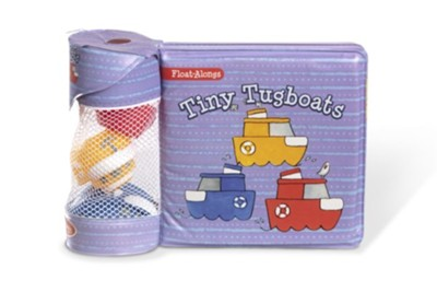 Melissa & Doug Tiny Tugboats, Bath Book with Float Alongs