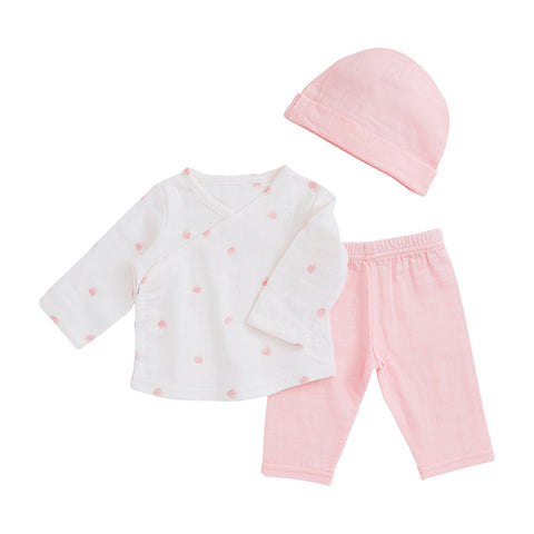 Aden and Anais Rose Water Dot Starburst Newborn Set