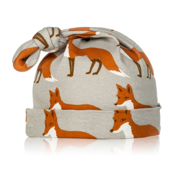 Milkbarn Organic Knotted Hat - Orange Fox