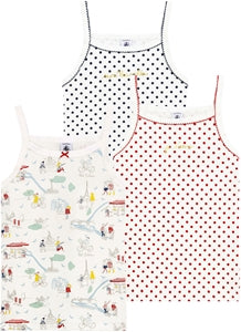Little Girl's Strap Vest Trio Paris