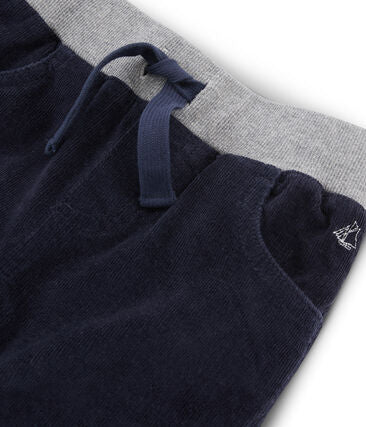 Navy Velour Pants