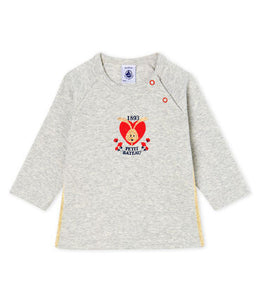 Petit Bateau Baby Grey Long-Sleeved T-Shirt