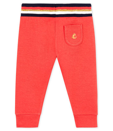 Baby Signal Red Tube Knit Pants