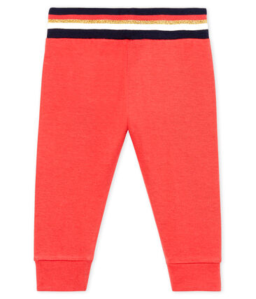 Petit Bateau Baby Signal Red Tube Knit Pants