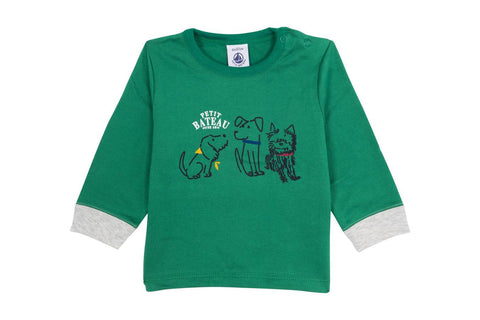 Petit Bateau Green Long Sleeved T-shirt