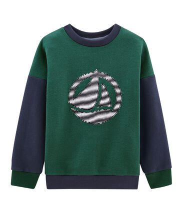 Petit Bateau Green and Navy Sweatshirt
