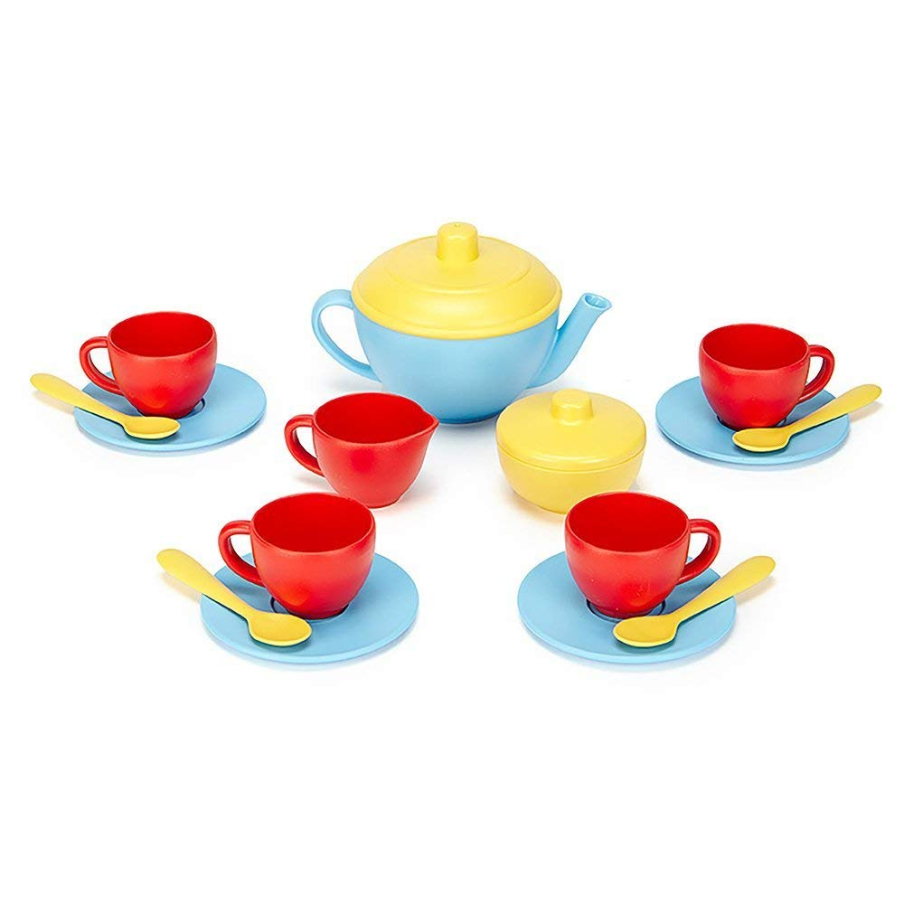 Green Toys Tea Set Red and Blue