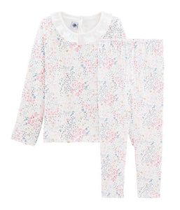 Tube Knit Collared Pyjamas - 2-piece Set