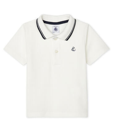 Petit Bateau Baby Short-Sleeved Polo Shirt