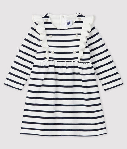 Baby Stripped long-sleeved dress